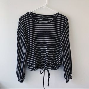 Striped Long Sleeve with Tie